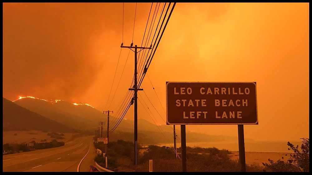 The Woolsey Fire in SoCal.