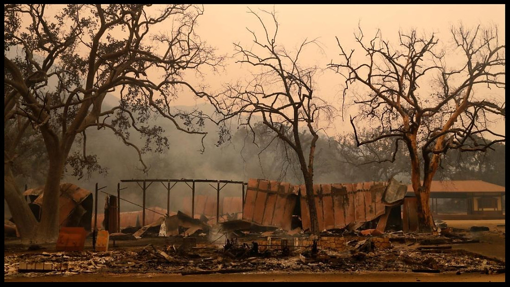What's left of Paramount Ranch after the fire.