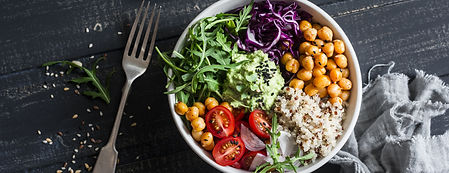 Quinoa and spicy chickpea vegetable vege