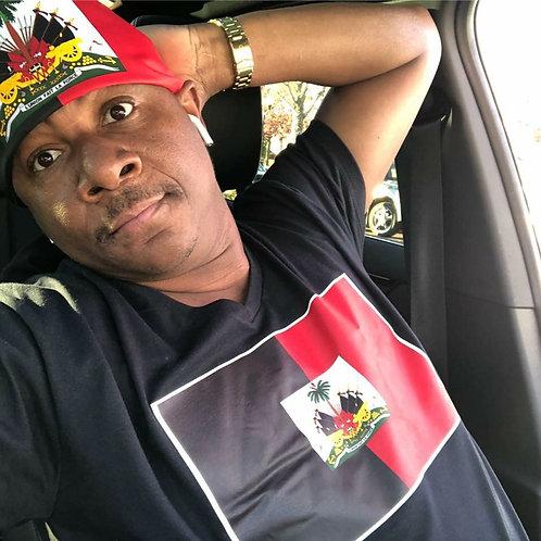 Red &Black Haiti Tshirt