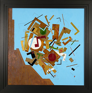'Bounce' an abstract painting by Ben Fearnside