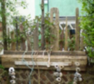 Driftwood trellis wall topper