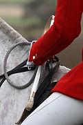 'Countrysides' radio drama by Anita Sullivan. Hunt master in red jacket. The Hunting Ban.