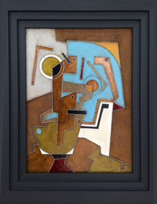 'Chickentown' an abstrct painting by Ben Fearnside