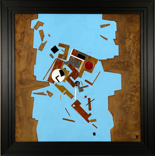 'Hard Place' an abstract painging by Ben Fearnside