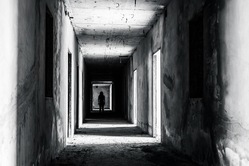 Scary building, radio horror