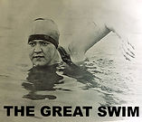 Gertrude Ederle swimming the English Channel