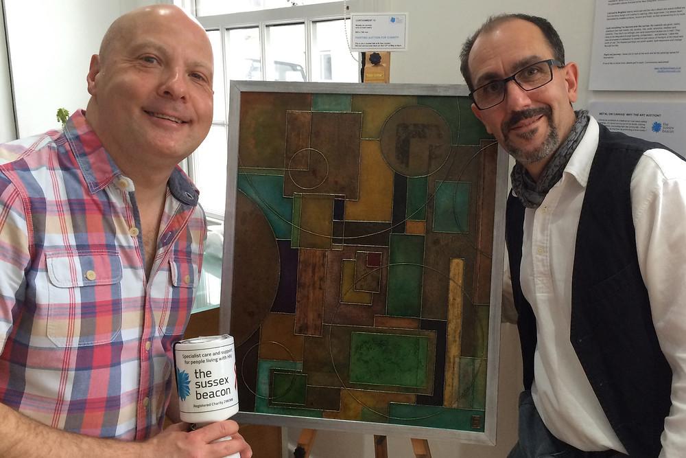 Jason Warriner and artist Ben Fearnside