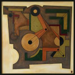 'Bull-Bearing' an original abstract by Ben Fearnside