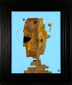'Janus' an abstract painting by Ben Fearnside