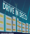 Poster for 'Drive in Deco' site specific show by Anita Sullivan