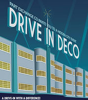 Poster for 'Drive in Deco' site specific show