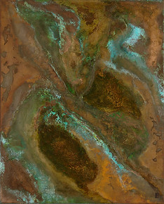 'Fissure' an abstract painting by Ben Fearnside