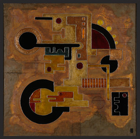 'Treble Clef' an abstract painting by Ben Fearnside