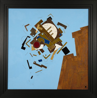 'Falling' an abstract painting by Ben Fearnside