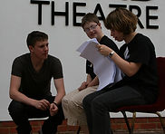 Play in a Week in rehearsal at The Nomad's theatre