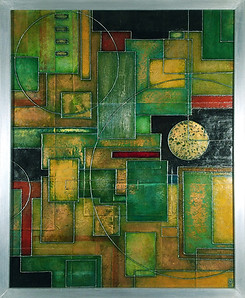 'Kew' an abstract painting by Ben Fearnside
