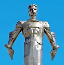 Yuri Gagarin's statue. 'Titanium' BBC Radio 4 drama by Anita Sullivan