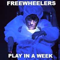 Freewheelers production of 'Earthrise', performer in space suit
