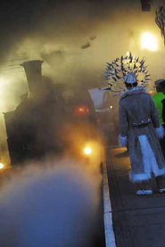 Site specific show 'Chariot of Light' on Bo'ness and Kenneil steam railway
