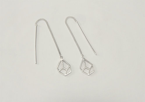 Open Facet Thread Earrings