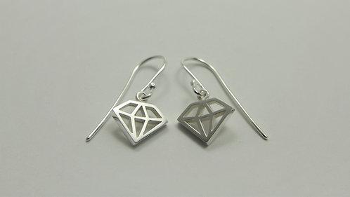 Diamond Charm Earrings