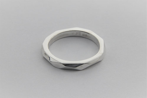 Narrow Facet Ring