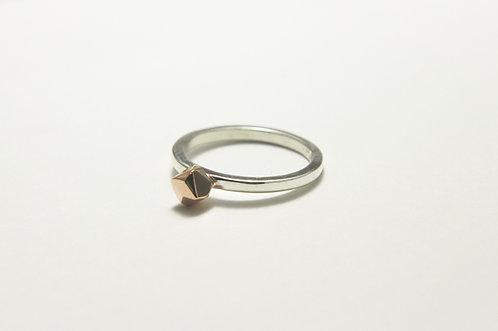 Rose Gold Facet bead ring