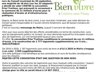 Pourquoi le Conseil de Carrières à rejeté la convention Prior'Yvelines...