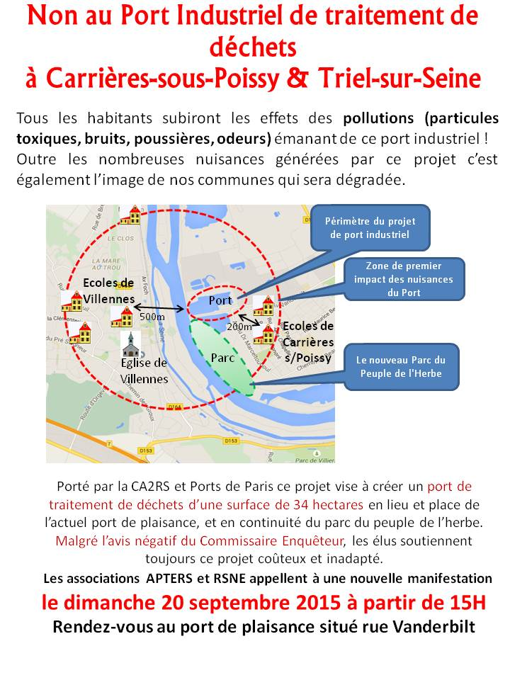 Non au Port Industriel flyer Manif 20092015