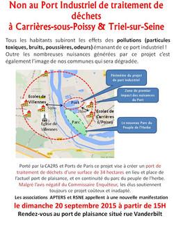 Non au Port Industriel flyer Manif 20092015