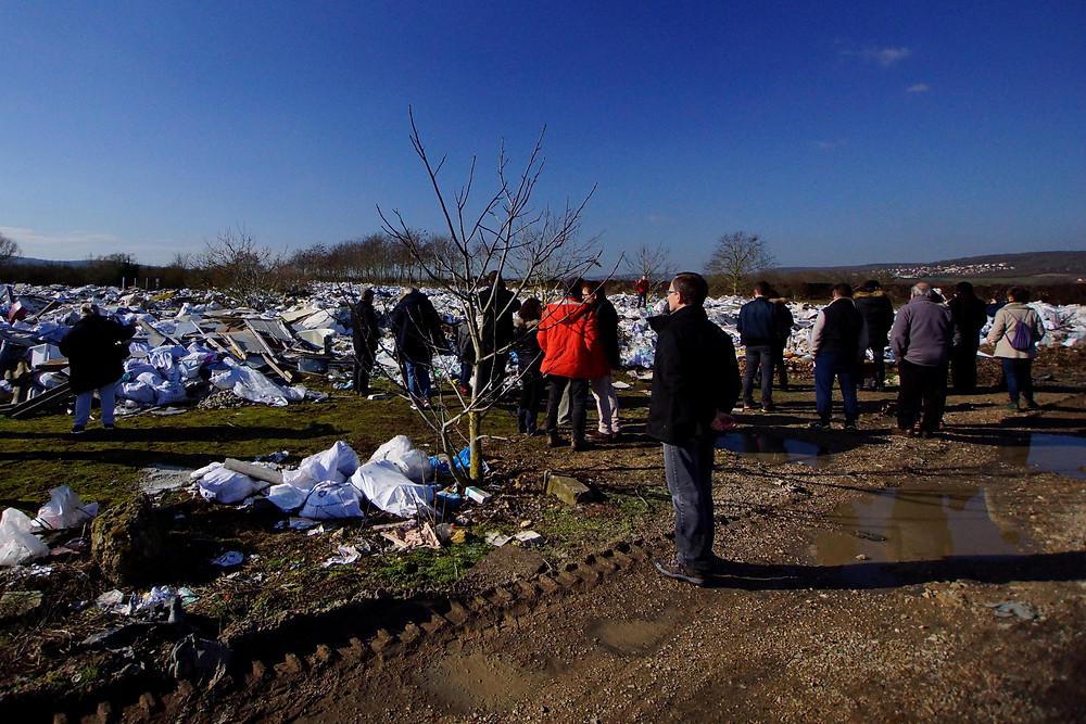 Le 15 avril 2018 l'association RSNE organisait une opération investigation afin d'identifier la provenance des déchets.