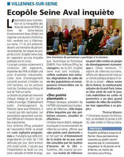 ZAC ecopole article du courrier des yvelines