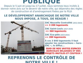 Enquête publique sur le PLUi : Le dimanche 30 juin, échangeons sur les nouvelles règles de construct