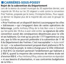 Rejet convention Prior'Yvelines