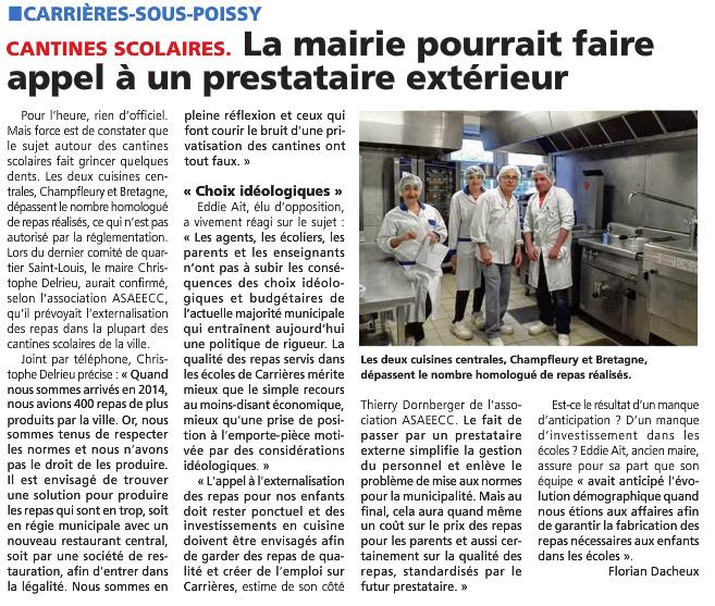 privatisation cantine municipale