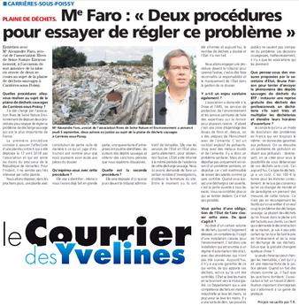 Me Faro s'exprime sur les procédures engagées pour régler le problème de la décharge sauvage de Carrières