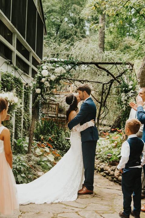 """You may kiss the bride."""