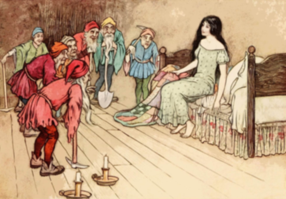 medicaments snow white dwarves storytelling fairy tale
