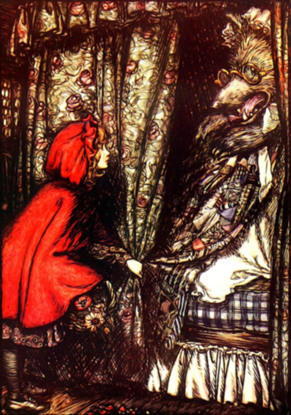fairytale red riding hood arthur rackham story medicine