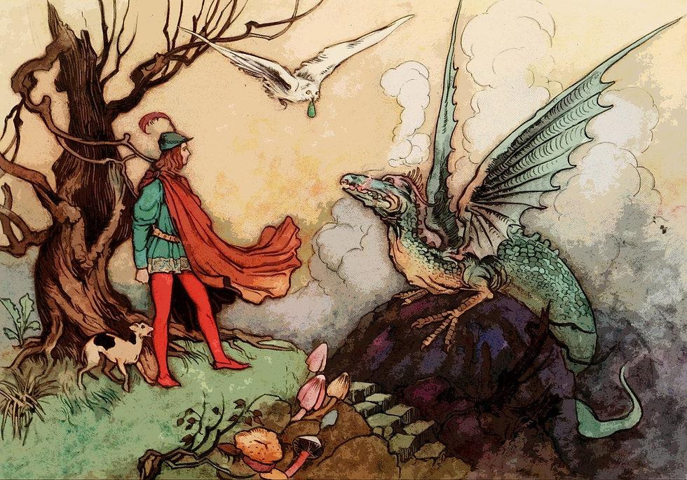 fairy tale dragon prince story medicine faerytale apothecary