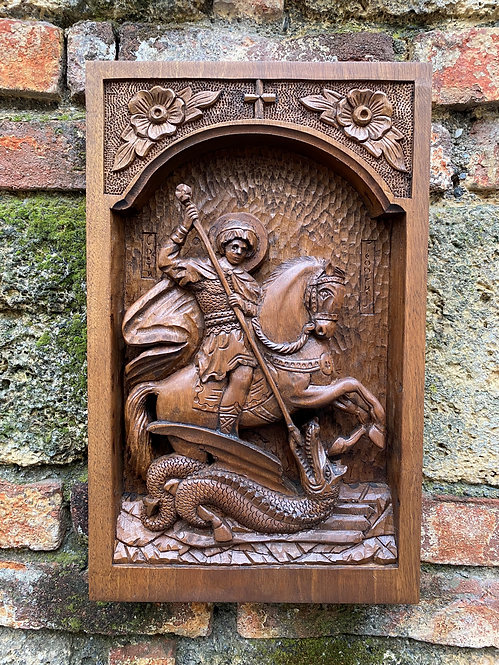 St. George Wood-carved Icon
