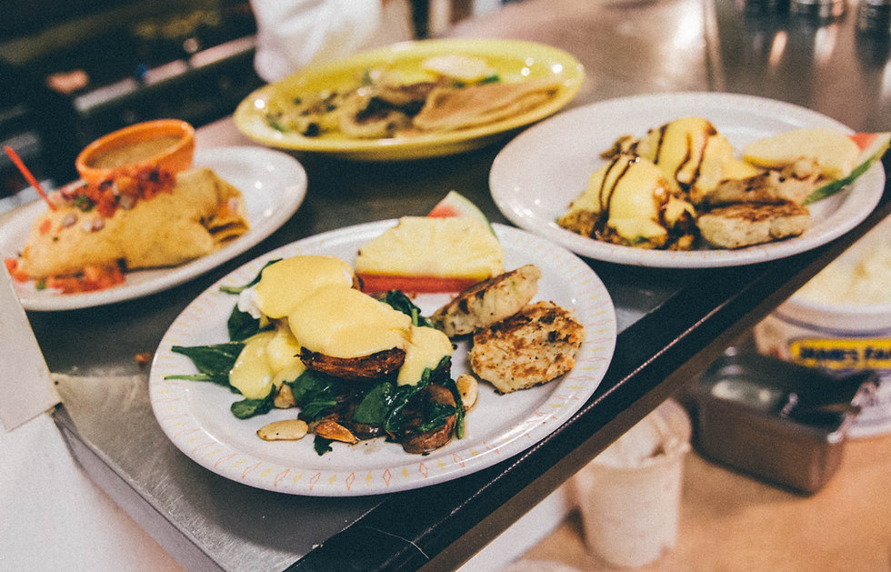breakfast plates at Breakfast on Broadway