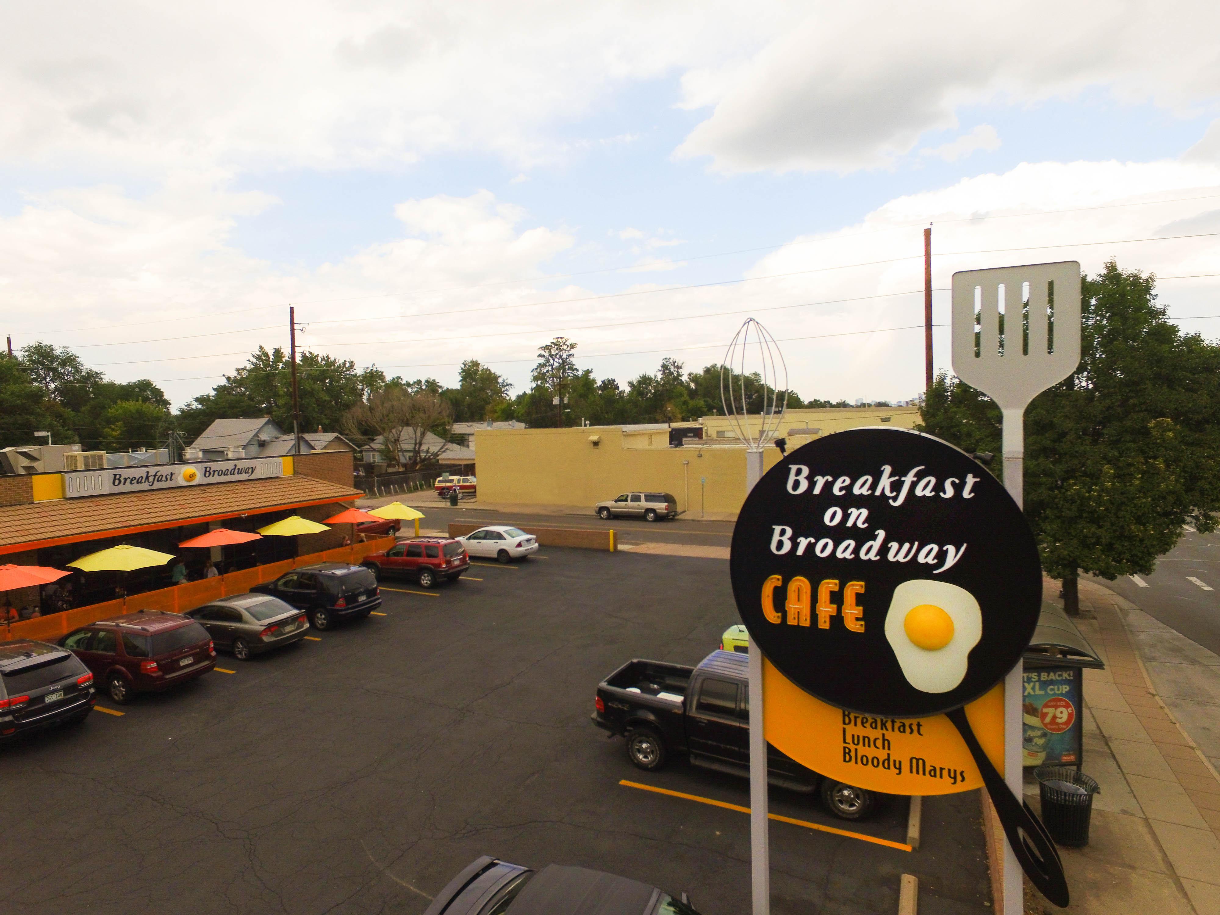 Breakfast on Broadway drone view