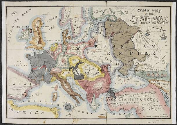 comic map europe 1854 - british library.
