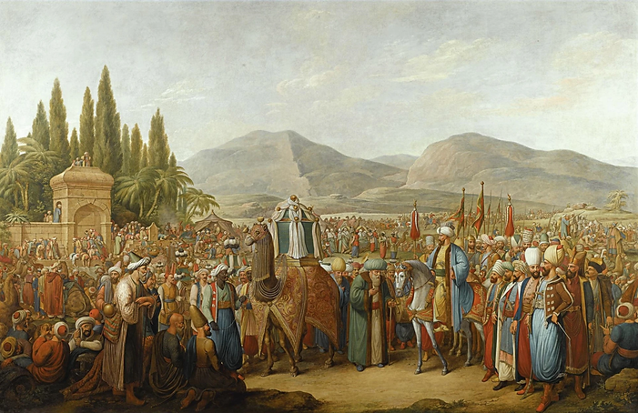 The arrival of Mahmal at an Oasis Georg