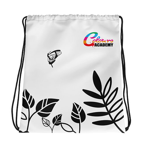 Colours Academy B/W Riverbed Drawstring bag