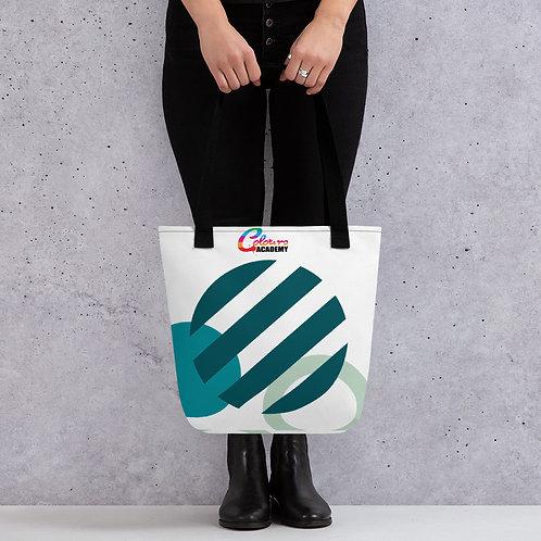 Colours Academy Blue Circles Tote bag