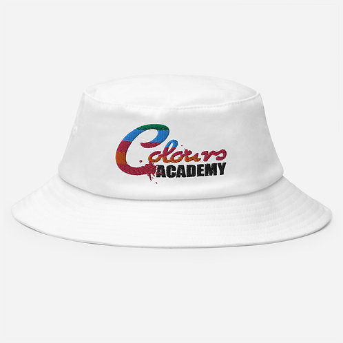 Colours Academy Old School White Bucket Hat