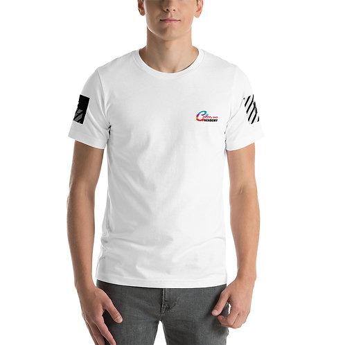 Colours Academy Short-Sleeve Unisex T-Shirt with B/W Sleeve design